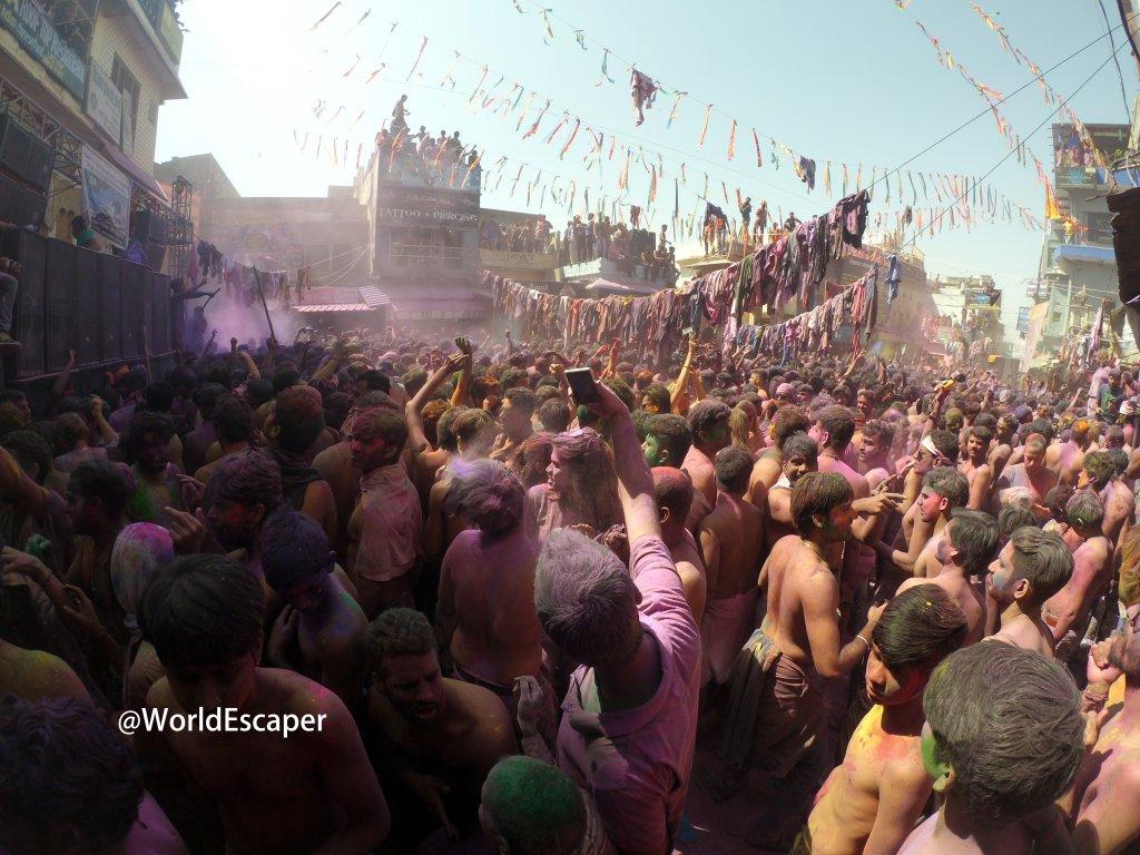 印度|普西卡|Pushkar|沉浸在彩色狂想曲,Holi 灑紅節